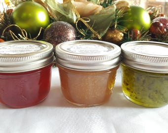 Holiday Jelly Sampler (Crabapple Jelly, Apple Maple Butter, and Green Pepper Jelly)