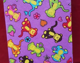 Mini MONKEYS on Purple  Mens Novelty Tie Necktie for Unique Gift SALE!