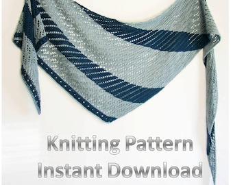 Instant Download Knit Shawl Pattern, Shawl Tutorial, Knitted Shawl Pattern, Lace Shawl Pattern, Knitting Shawl Pattern, Lace Knit Pattern