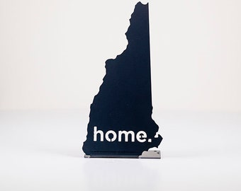 New Hampshire Home State Steel Sign - Metal State Decor