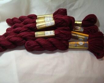 Mez Kelim ANCHOR Burgundy 100 Percent Wool Yarn.