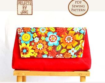 Beginner Basic Clutch pdf bag sewing pattern