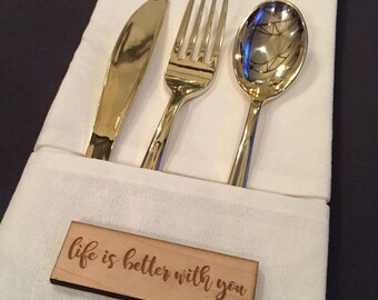 Wood tags, wedding tags, custom wood art, rustic wedding, thank you tag, gift tag, wood name plate, wood favor tag