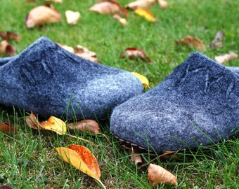 Slippers for men, Felted shoes, Felted slippers, Felted boots, House slippers, Wool slippers, House shoes, Felt wool shoes, Men slippers