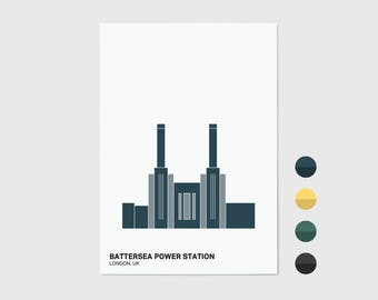 Battersea Power Station, London Print | London Artwork | London Print | Architecture Print | Battersea Print