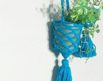 Tassle Hanging Planter- Wall Accent- Bohemian Decor- Dorm Decor~ Planter~ Succulent Plant~ Wall Accent- Boho Home Decor- BohoChic~ Jungalow