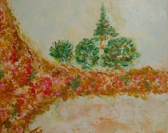 Contemporary painting in acrylic on canvas titled: 2 Secret Garden
