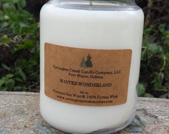 Winter Wonderland 26 ounce Coconut Soy Wax Holiday Candle