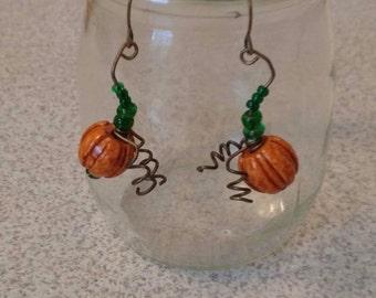 Pumpkin earings