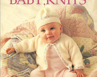 vintage book, Beautiful Baby Knits , new-born to three-year old patterns