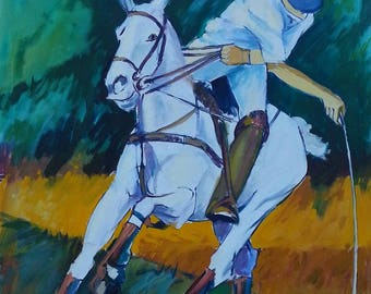 Polo 2 / original oil on canvas