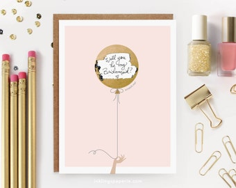 "6 Scratch-off ""Be My Bridesmaid"" Cards // Ask Bridesmaids, Maid of Honor Card, Will You Be My Bridesmaid Proposal, Bridesmaid Box // Pink"