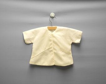 Vintage Baby Clothes, 1950s Saks Fifth Avenue Cream Wool Baby Girl Crib Coat, Cream Baby Coat, Vintage Baby Coat, Size 12 Months