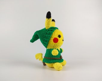 Pikachu amigurumi, Link amigurumi, Pokemon gift, Pokemon gifts for men, Pokemon plush, Zelda amigurumi, Legend of Zelda, Pikachu plush