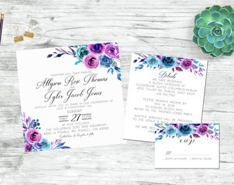 The Ally - Printable Wedding Invitation Set