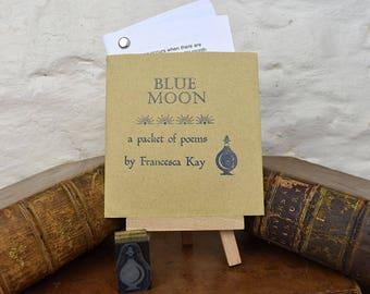 Poetry. Blue Moon. Poems. Moon poetry. Poetry. Letterpress