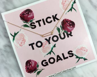 Goal digger, stick to your goals, girl boss gift, girl power, motivational gift, inspirational gift, gift with message, accomlishment gift