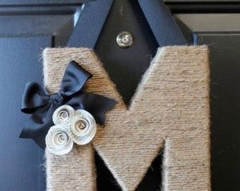 Twine Monogram Wreath/Door Hanger