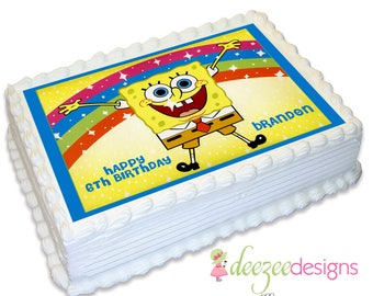 Spongebob Squarepants A4 Edible Icing Cake Topper