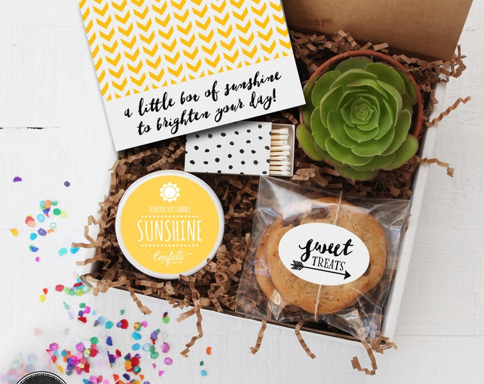 Box of Sunshine -  Get Well Gift   Thank You Gift   Friend Gift   Send a Gift   Thinking of You Gift