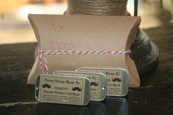 Awesome Gift Set 3 Lip Tins in Kraft box made with Organic ingredients
