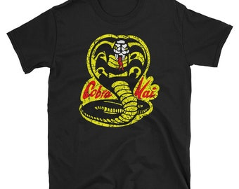 Cobra Kai T-Shirt / Short-Sleeve Unisex Shirt / Karate Kid YouTube Red / Daniel Larusso Johnny Lawrence Sweep The Leg / Vintage Retro 1984