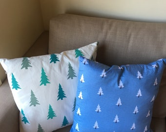 Christmas tree cushion cover - two patterns