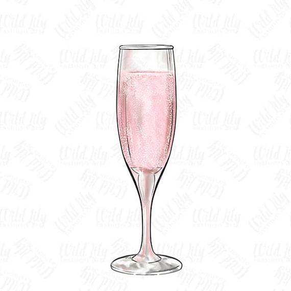 champagne glass clipart pink champagne glass clip art retro rh etsy com champagne glass clipart christmas champagne glasses clip art free