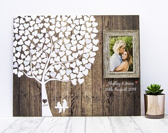 Wedding Guest Book - Custom Guestbook - Rustic Wedding - Custom Guestbook - Personalized Custom Wedding Guestbook