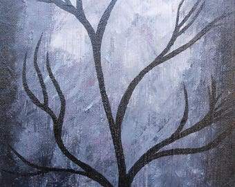 Starry Night Acrylic Painting, MoonLight Painting, Monlight Picture, Night Art