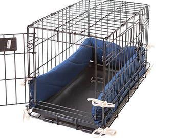 Dog Crate Bumper - Sailor Blue - Single Door