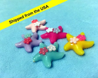 Starfish Flatback Resin Cabochon 21mm - Mixed color