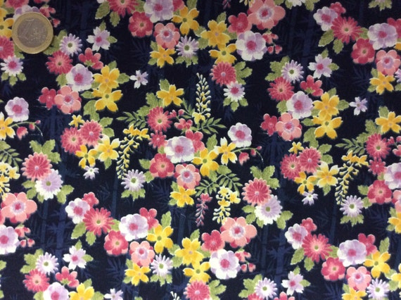 High quality cotton poplin dyed in Japan, Asian print