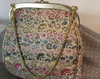 """Vintage Brocade J R Miami Bag, 6-1/4"""" x 6-1/4"""""""