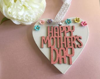 Mother's Day or easter heart decoration