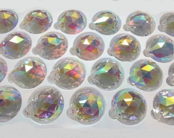 1 AB 30mm Crystal Ball, Asfour AB  Faceted Crystal Prism Ball, Sun Catcher, Feng Shui Crystal Prism Ball, Wedding Décor, Christmas ornament