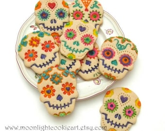 Sugar Skull Cookie Gift Mothers Day Cookie Favors Edible Gift Sugar Skull Art Wedding Favors Party Favors Under 35 Hostess Gift Baked Goods