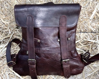 Leather Bag,Leather Rucksack Backpack,Leather Rucksack Women/Men,Leather Satchel,Womens Leather Backpack,Leather Purse,Festival Backpack