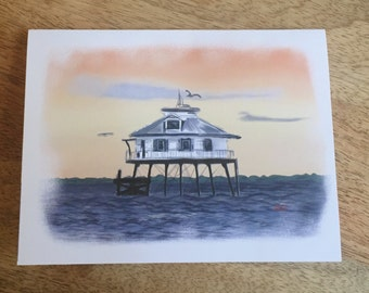Middle Bay Lighthouse Notecards - set of blank stationary cards w/ envelopes