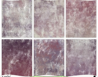 Taupe Burgundy Purple Painted Digital Prints Instant Download Set of 6 - 8.5 x 11 inch Printable Papers JPEG & PDF Commercial Use 1986