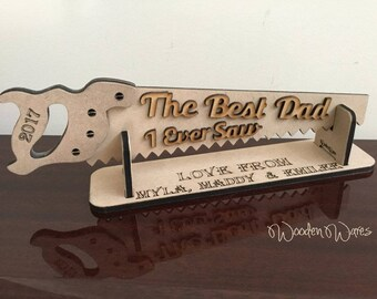 Aussie Best Dad or Poppy with up to 6 Engraved Names - FATHERS DAY - MDF - Made in Brisbane Australia - AfterPay Available