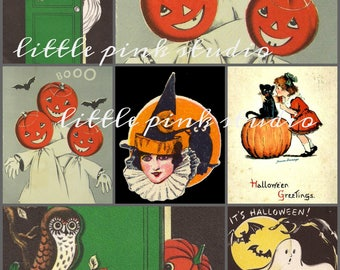 Halloween collage sheet (printable, digital download)