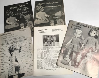 Crocheting & Knitting doll direction booklets