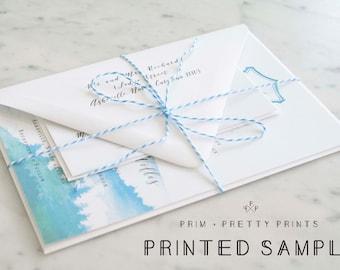Printed Sample Wedding invitation Set