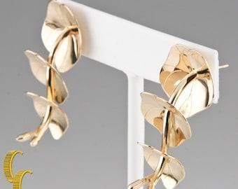 Robyn Nichols 14k Yellow Gold Lily Pad Stud Earrings