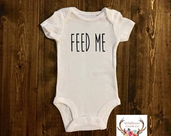 Feed Me Bodysuit - Newborn Clothing - Newborn Outfit - Boy Newborn - Boy Clothing - Girl Clothing -