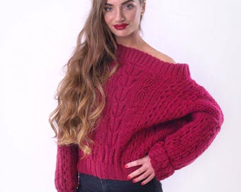 Ruban oversized cable knit sweater