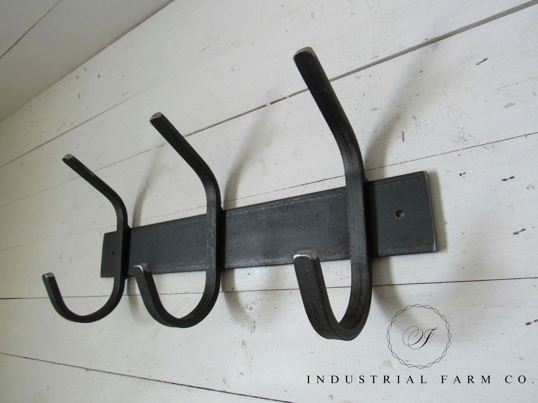 Wrought Iron Hook, Iron Hook, Wall Hooks, Coat Hooks, Wood Coat Rack ...