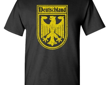 Germany GERMAN SOCCER flag crest t-shirt tee shirt short or long sleeve your choice! all sizes many colors