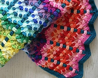 Crochet Pattern, Chromatic Cobbles Blanket, Throw, Afghan, Baby